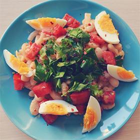 Turkish White Bean Salad from the Mediterranean Coast