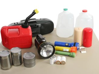 Emergency supplies ready for use (water, flashlights, etc.)