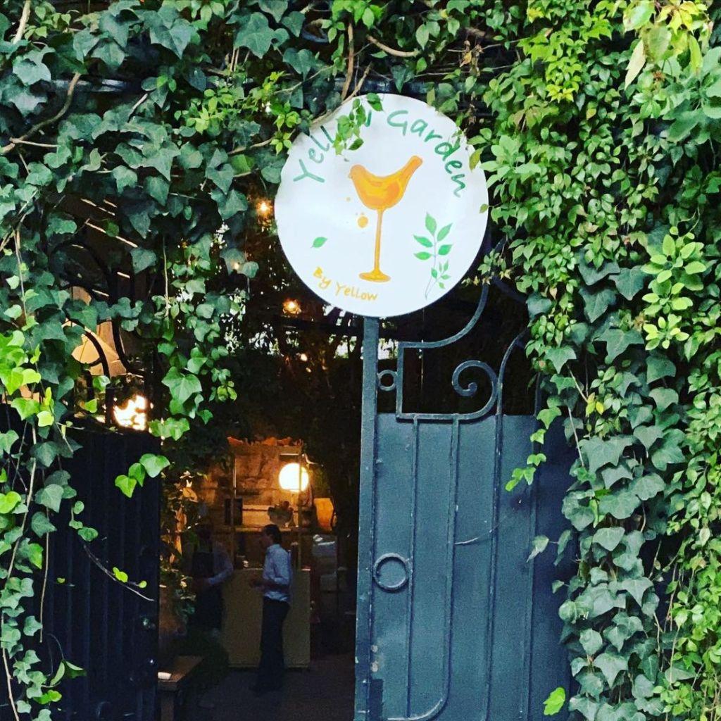 Yellow Garden: el bar al aire libre que debes conocer en la Roma