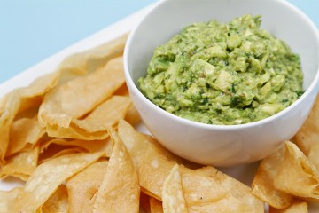 Avocado salsa with pan-roasted cumin and homemade tortilla chips