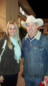 Tanna got her picture taken with Ladd (PW's husband)