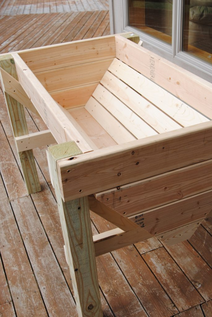 DIY container for deck gardening