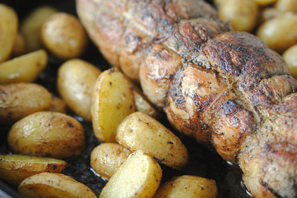 Pork Tenderloin and Baby Potatoes