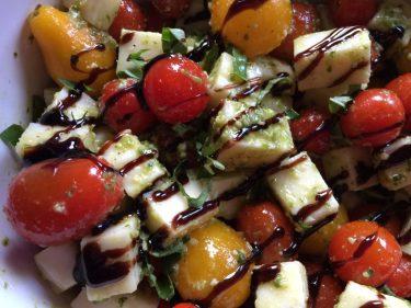 Basil Pesto Caprese Salad