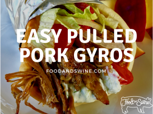 easy pulled pork gyros