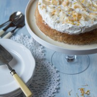 Banana and Coconut Three Milk Cake