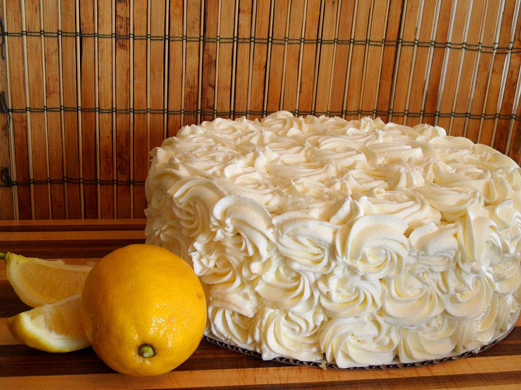 Lemon Rosette Cake