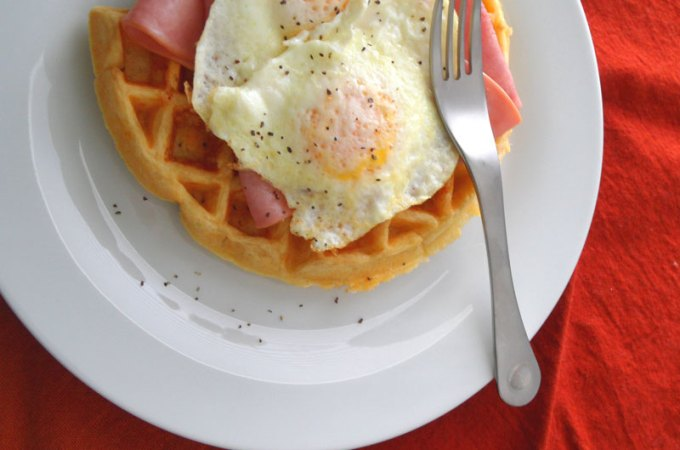 Buttermilk Cheddar Waffles Recipe