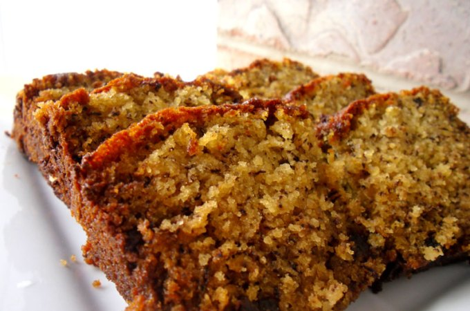 Cocoa Nib Sour Cream Banana Bread Recipe