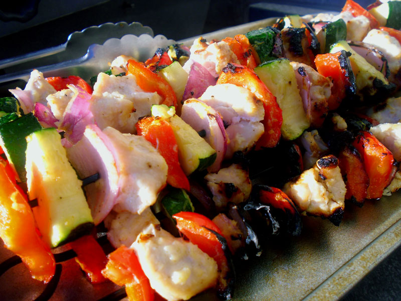 Grilled Chicken or Steak Kabobs