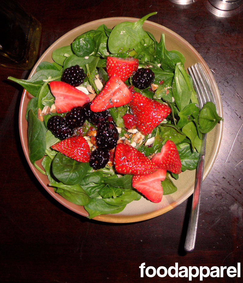 Nuts and Berries Spinach Salad at FoodApparel.com