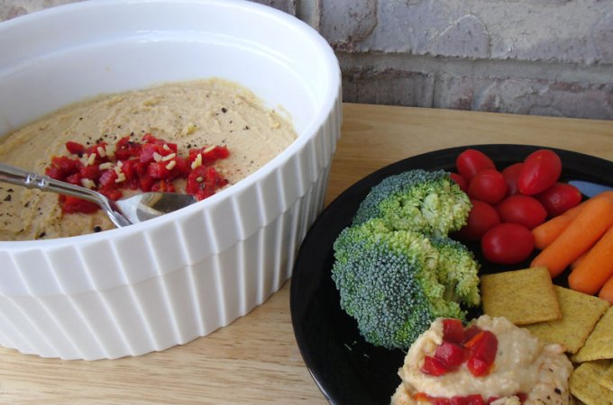 Roasted Red Pepper and Garlic Hummus Recipe