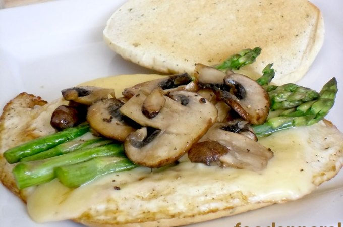 Asparagus, Mushroom and Swiss Egg White Sandwich Recipe (Einstein Bros Copycat)