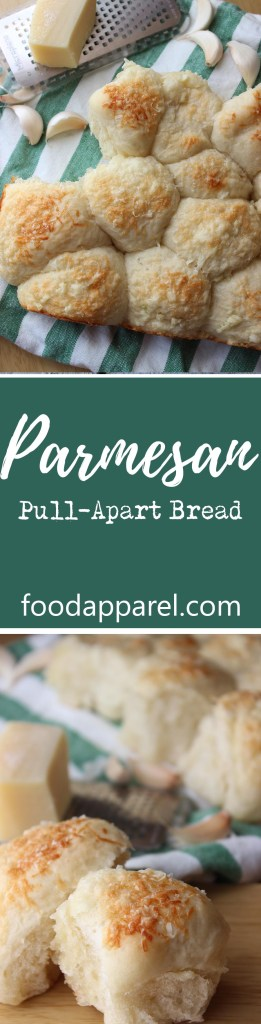 Your New Go-To Garlic Parmesan Pull-Apart Bread. Amazing sidekick for any salad or soup!
