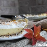 Coconut Cream Pie with Chocolate Painted Shell at FoodApparel.com