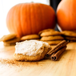 Delicate Pumpkin Cookies with Cinnamon Cream Cheese Frosting