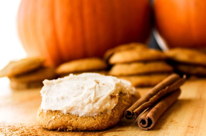 Delicate Pumpkin Cookies with Cinnamon Cream Cheese Frosting (Guest Post @ FoodCharlatan)