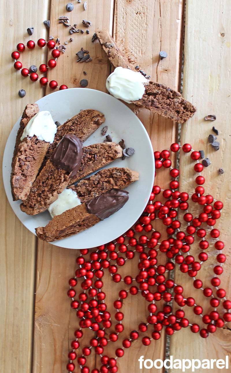 Chocolate Biscotti Recipe with Cinnamon and Cocoa Nibs | Food Apparel