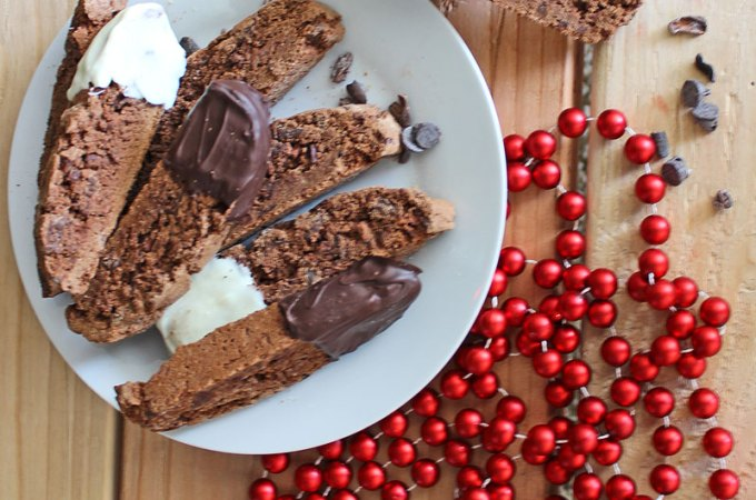 Chocolate Biscotti Recipe with Cinnamon and Cocoa Nibs