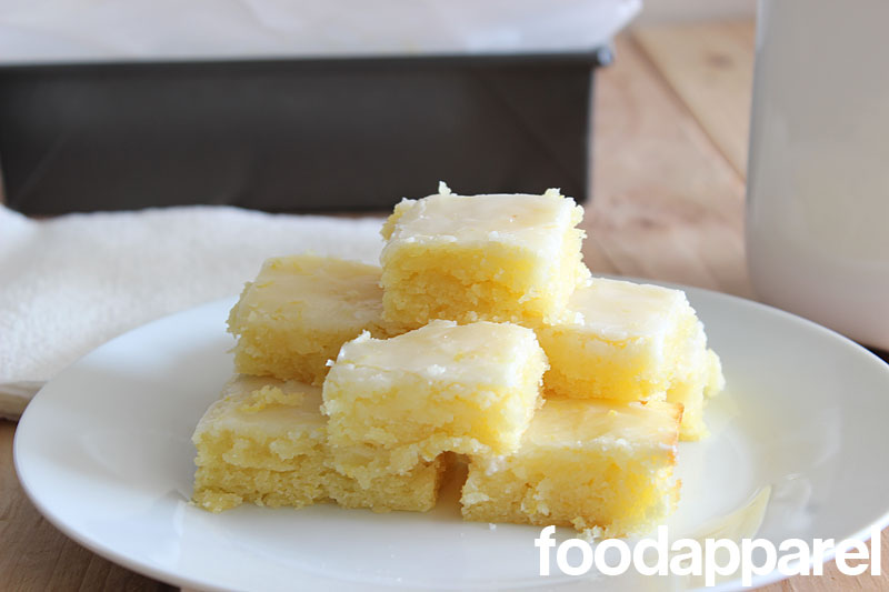 Lemon Blondies at FoodApparel.com