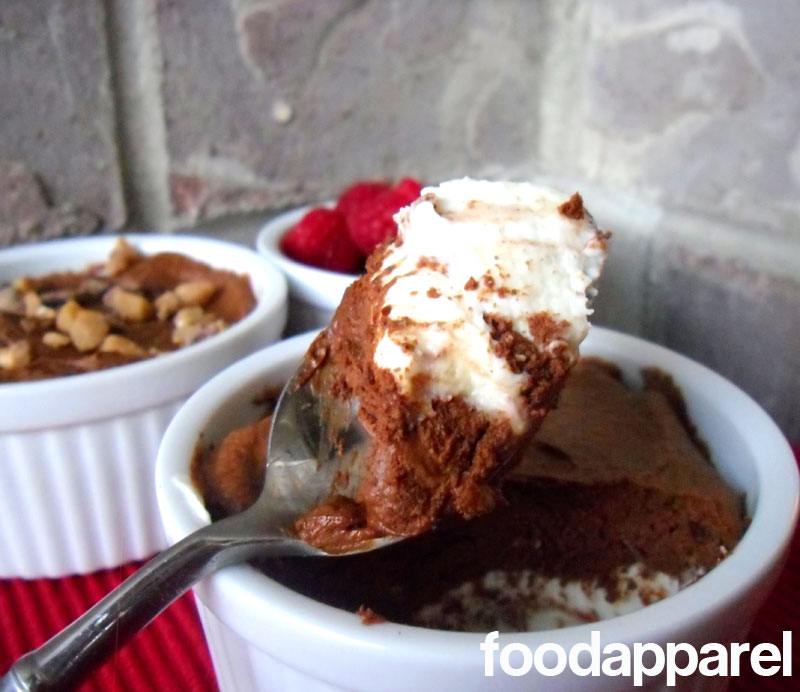 Dark and White Chocolate Mousse at FoodApparel.com