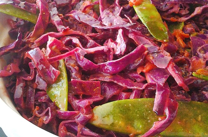 Chipotle Lime Coleslaw with Sugar Snap Peas Recipe