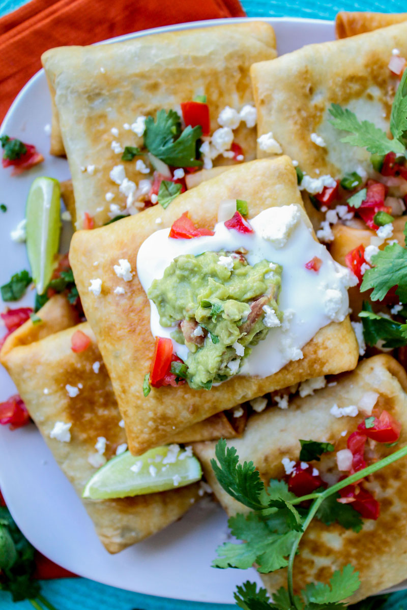 Chicken, Tomatillo and Chipotle Chimichangas