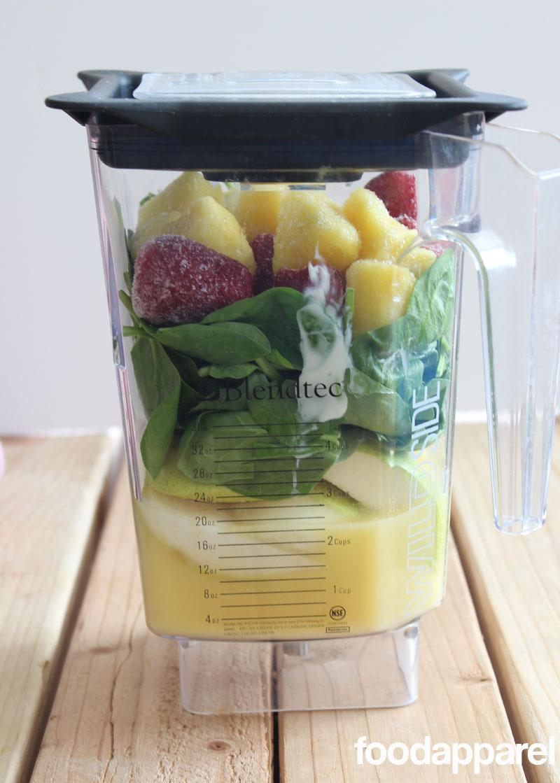 Spinach Fruit Smoothie at FoodApparel.com