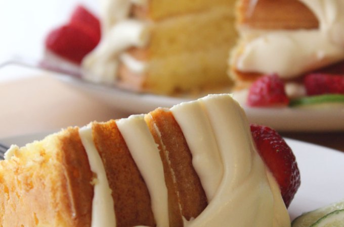 Key Lime Torte (Cake) with Strawberries Recipe