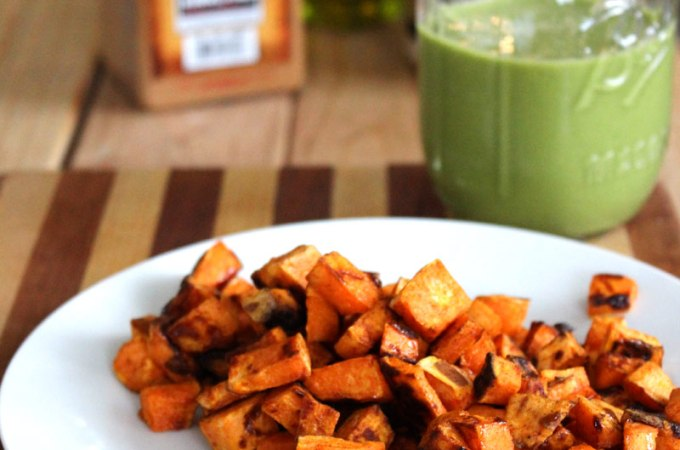 Easy and Healthy Maple Cinnamon Roasted Sweet Potatoes Recipe