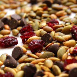 Pepitas, Dried Cranberries and Chocolate Snack Mix at FoodApparel.com