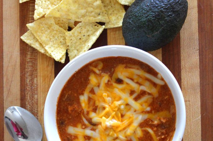 Zupa's Copycat Crockpot Chicken Enchilada Soup Recipe
