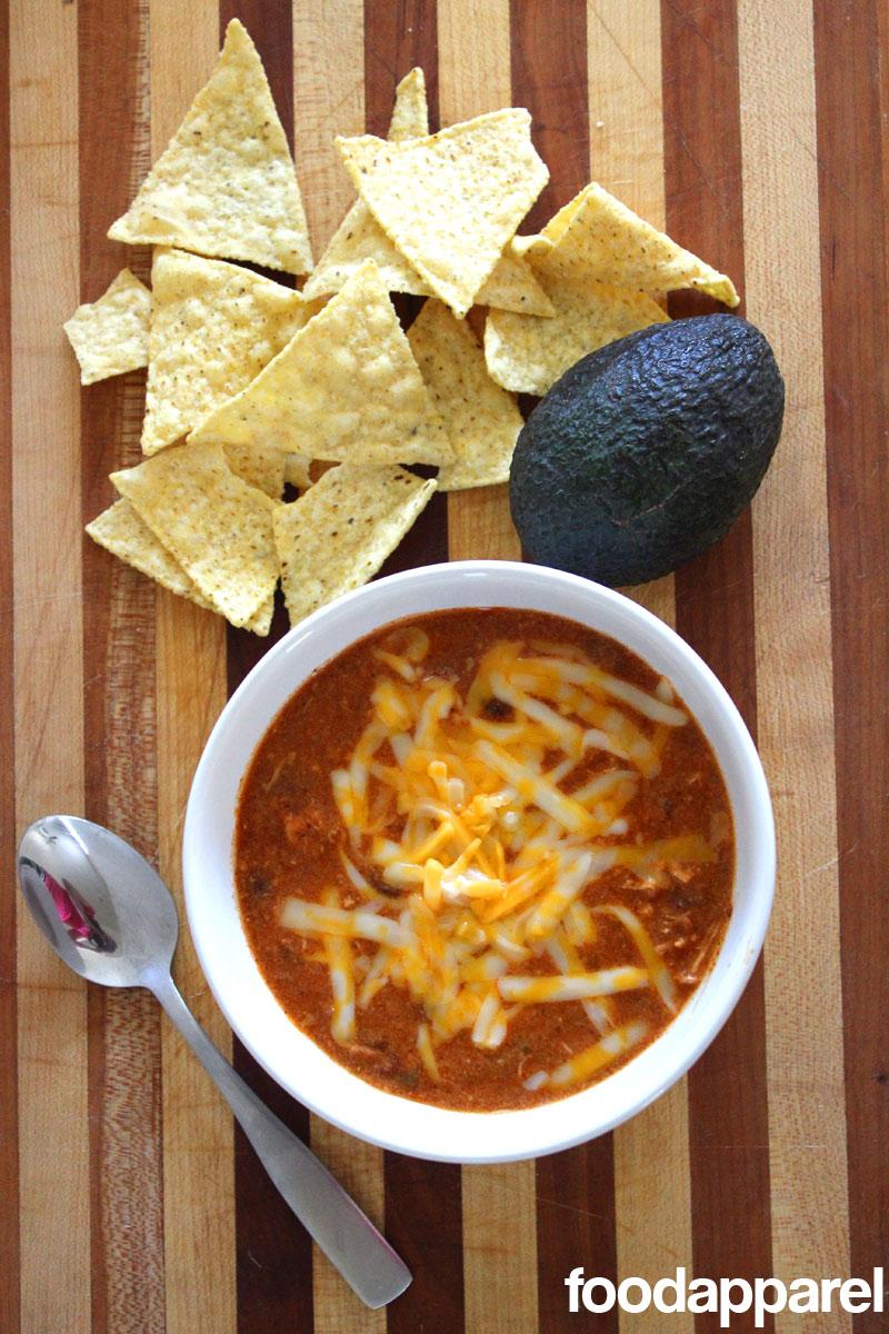 (Zupa's Copycat) Crockpot Chicken Enchilada Soup at FoodApparel.com