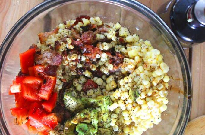 Healthy Summer Garden Style Quinoa Recipe