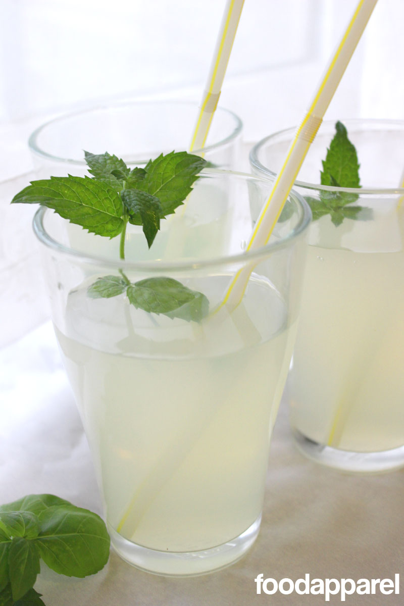 Herbed Lemonade (with Basil, Mint, and Dill) at FoodApparel.com