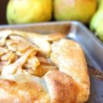 Apple Pear Galette Recipe (Rustic Pie) - easy and beautiful!