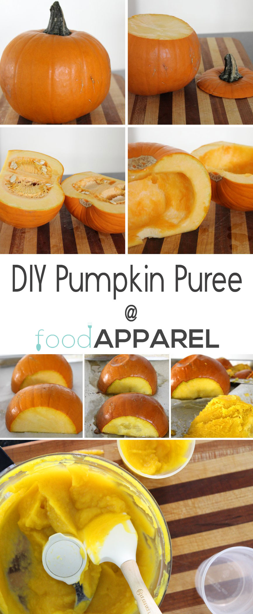 DIY Pumpkin Puree - for all your pumpkiny baked goods! #howto @foodapparel