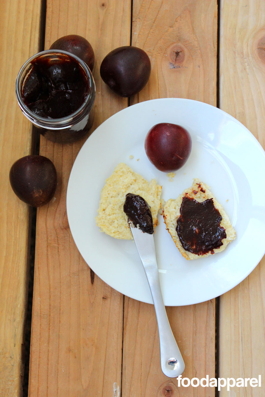 Overnight Crockpot Plum Butter at FoodApparel.com. Sit it and forget it overnight and wake up to a house full of tangy plum aroma!