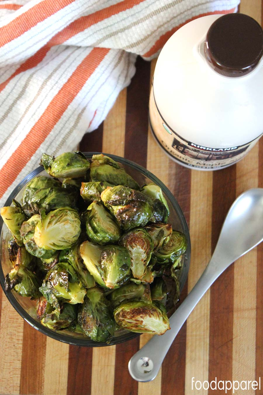 Maple Roasted Brussels Sprouts Recipe @foodapparel