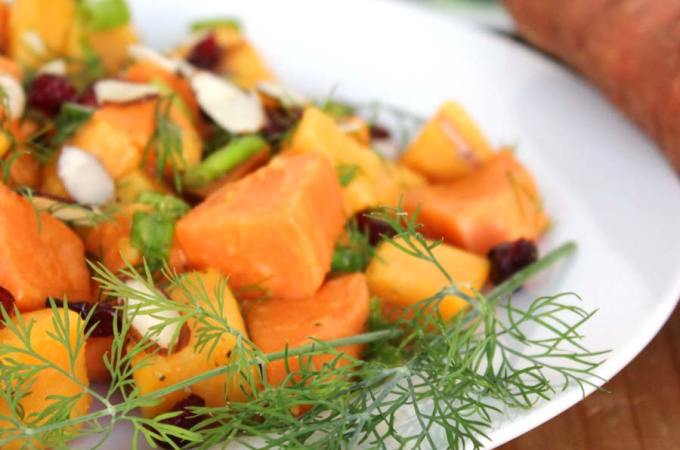 Sweet Potato Salad with Dill Vinaigrette Recipe