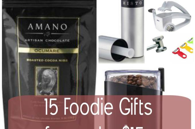 15 Christmas Foodie Gifts for Under $15 (or really close)