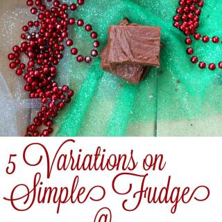 5 variations on simple fudge. 15 minutes to make it your way! @foodapparel