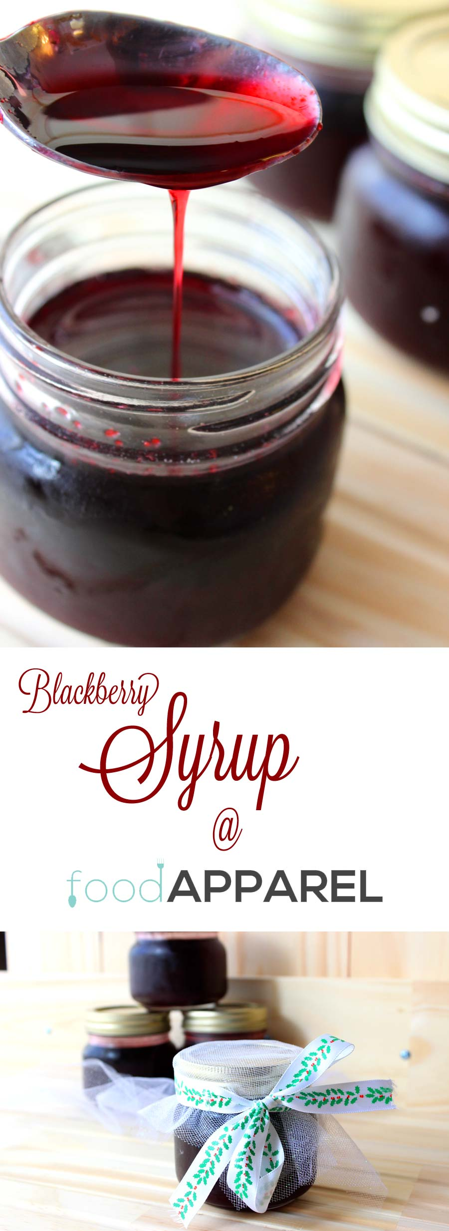 Simple Blackberry Syrup Recipe - easy to make, fabulous to gift! @foodapparel