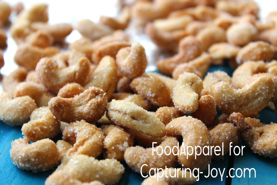 Honey Roasted Cashews Recipe - easy and healthy snack @foodapparel