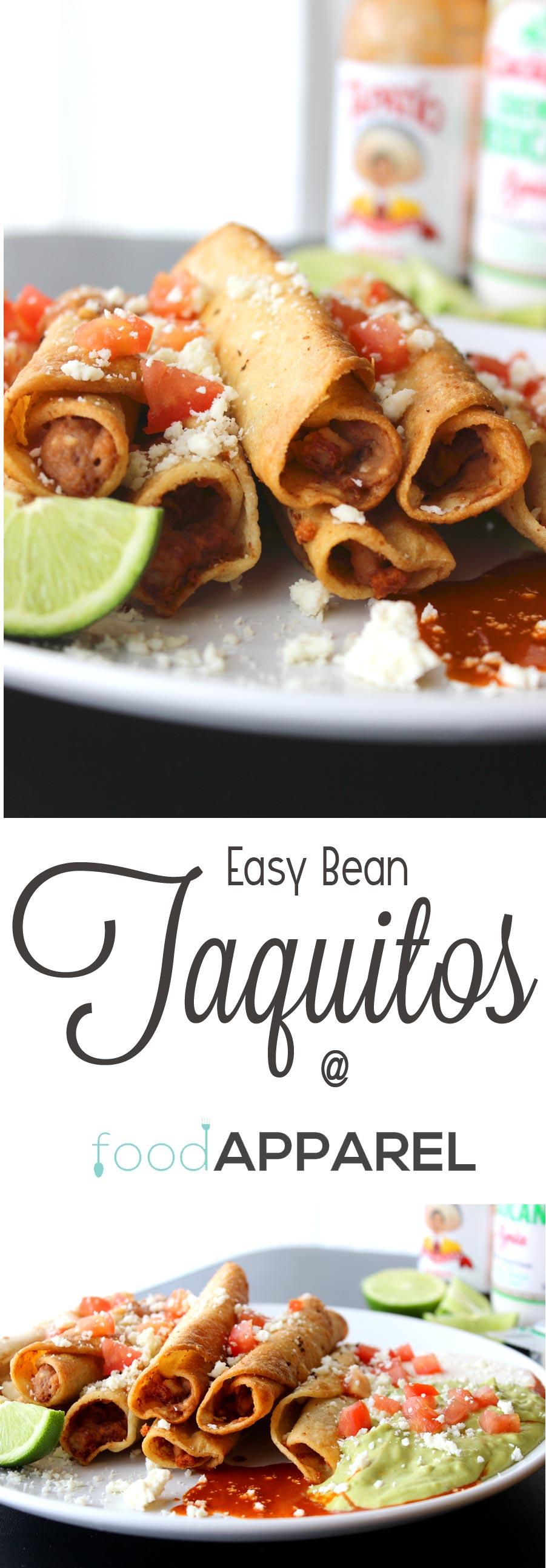 Easy Mexican Bean Taquitos - so easy and SOOOOO good!