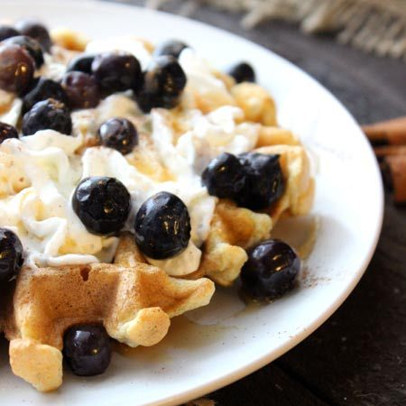 Coconut Cinnamon Waffles - such a delicious combo!