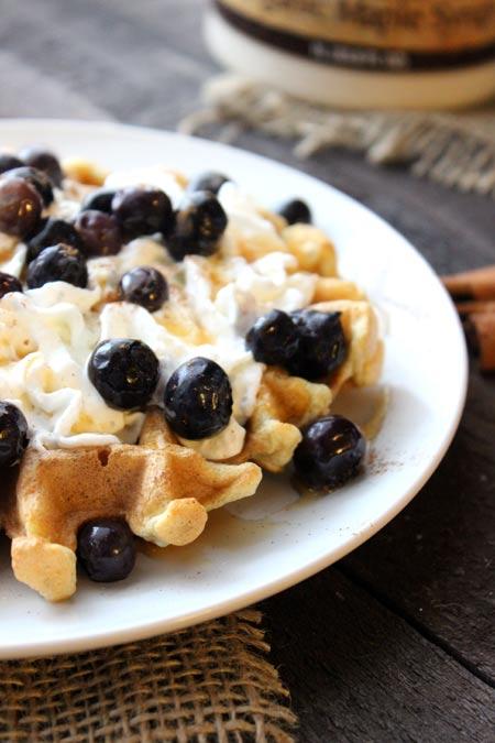 Coconut Cinnamon Waffles - such a delicious combo!