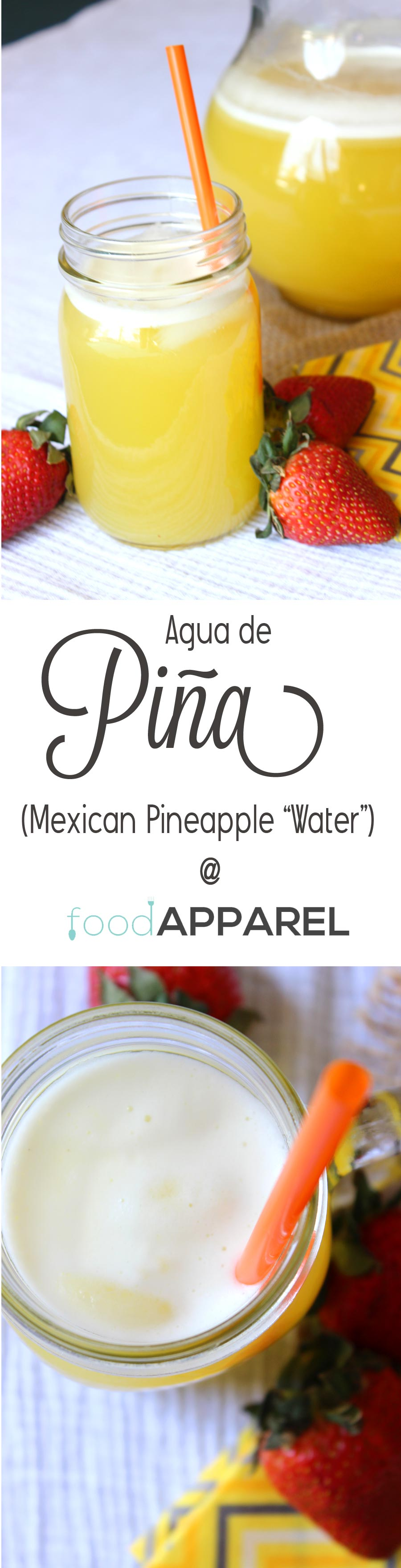 Agua de Pina (Mexican Pineapple Water). This drink is amazing and refreshing!
