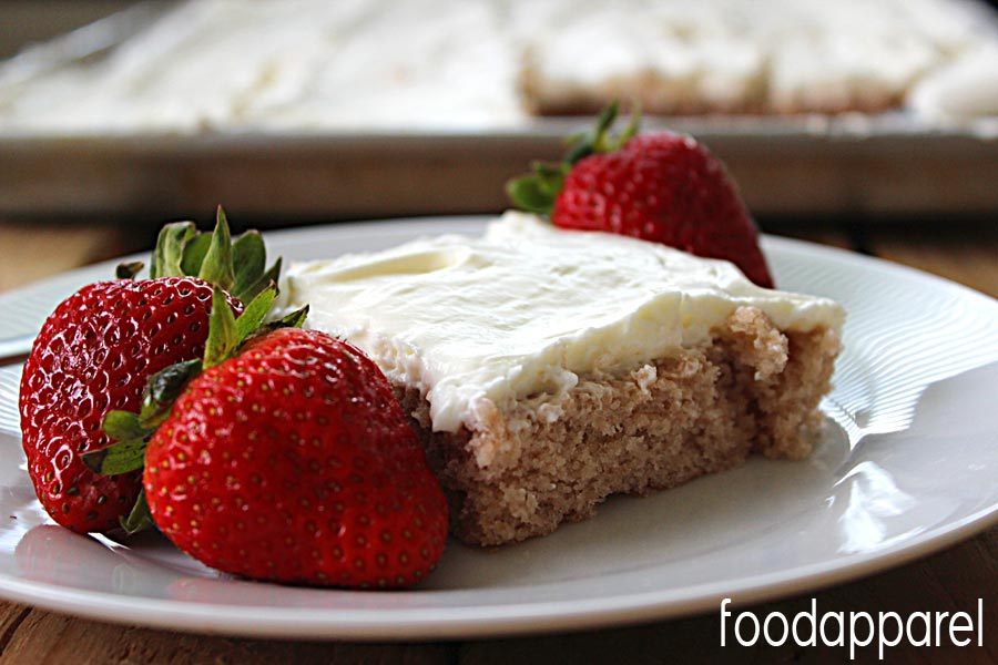 Easy Strawberry Sheetcake! Comes together fast and tastes delicious.