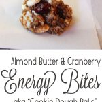 Almond, Cranberry and White Chocolate Energy Bites! Tastes too good to be healthy!